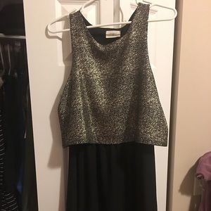 Everly gold and black dress